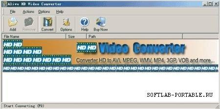 Alive HD Video Converter 1.0.6.9 Portable