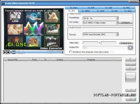 A-one Video Convertor 6.30 Portable