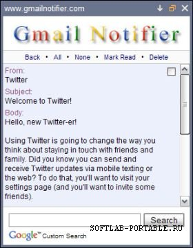 Gmail Notifier 1.0.0.86 Portable