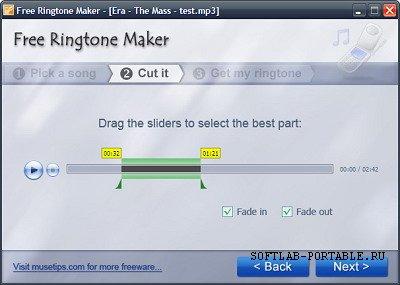 Musetips Free MP3 Ringtone Maker 2.5.0.2486 Portable